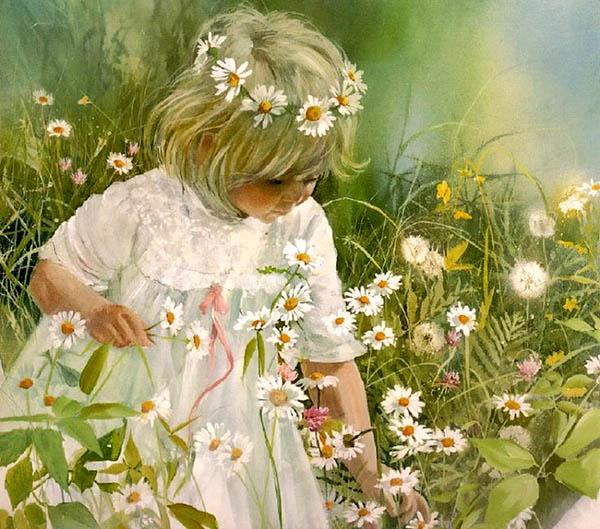 Девочка на поляне