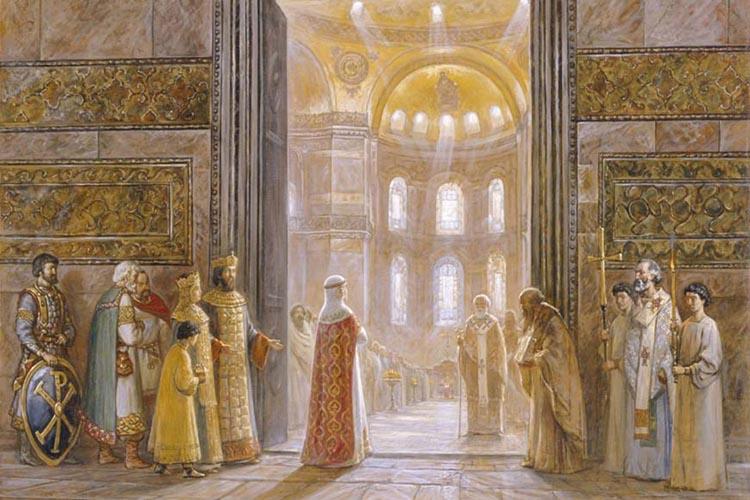 Княгиня Ольга в Константинополе