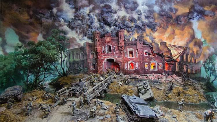 Макет Брестской крепости