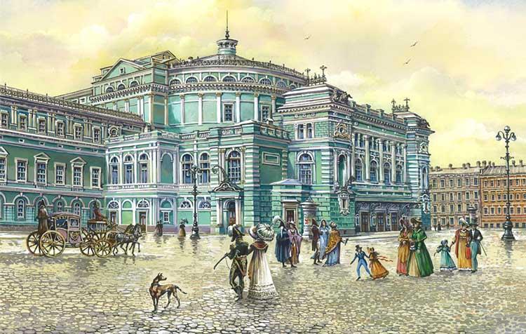 Мариинский театр в Петербурге 19 век