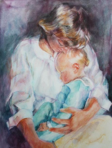 Мать с младенцем на руках