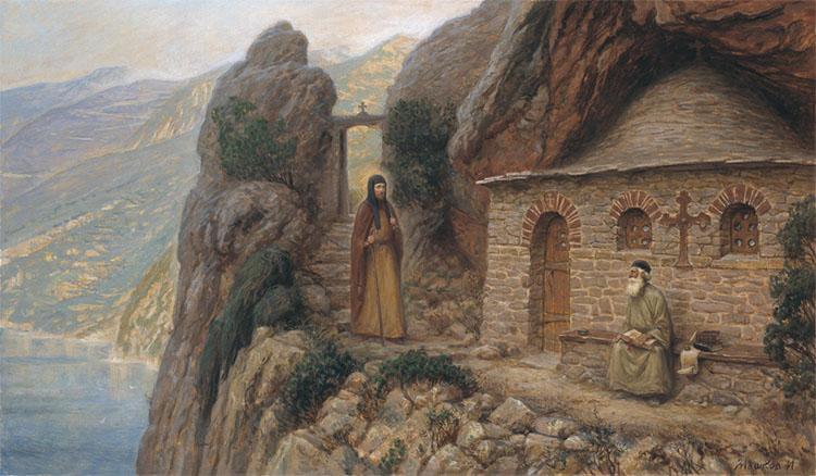 Паломничество преподобного Антония Печерского на Афон