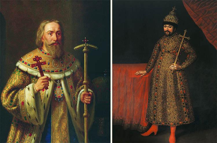 Патриарх Филарет и Михаил Романов