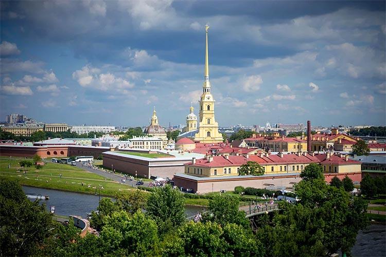 Петропавловский собор с высоты