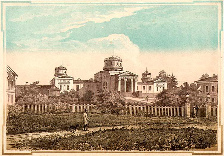 Пулковская обсерватория в 1855 году