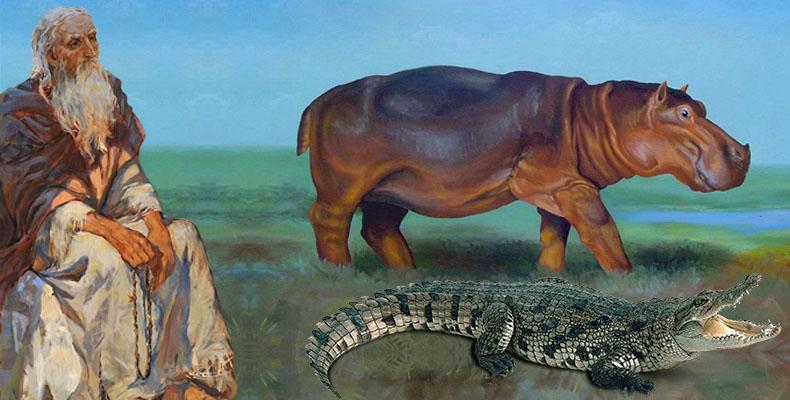 Старец, бегемот и крокодил