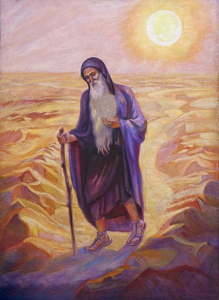 Старец в пустыне