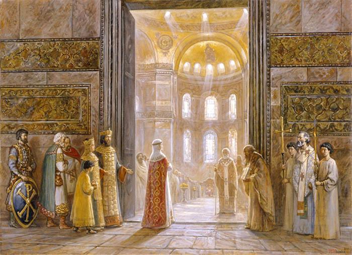 Святая княгиня Ольга в Царьграде