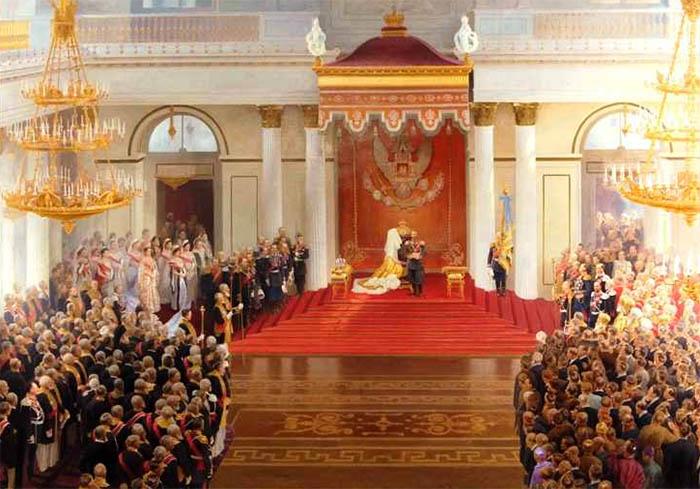 Тронная речь Николая II во время открытия I Государственной Думы