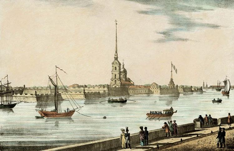 Вид на Петропавловский собор
