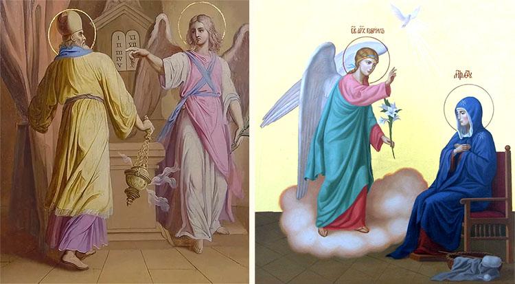 Явление архангела Гавриила Захарии и Пресвятой Деве Марии