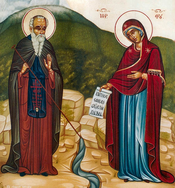 Явление Богородицы Афанасию Афонскому
