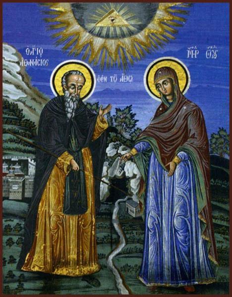 Явление Пресвятой Богородицы святому Афанасию Афонскому
