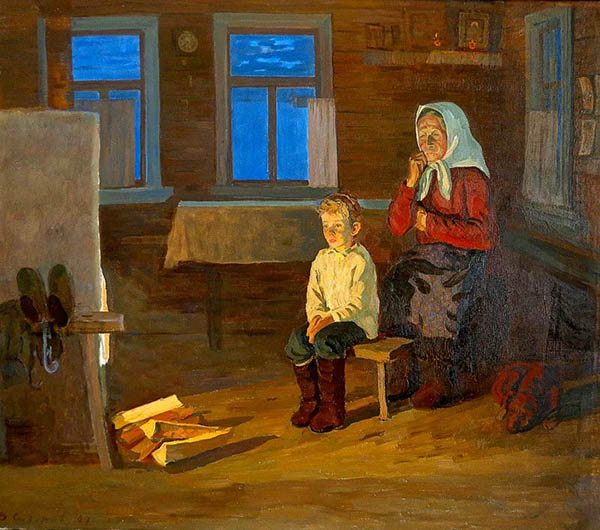 Бабушка с внуком