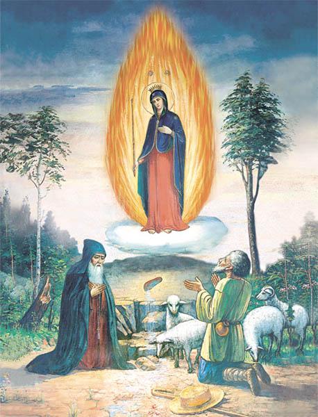 Чудесное явление Божией матери на горе Почаевской
