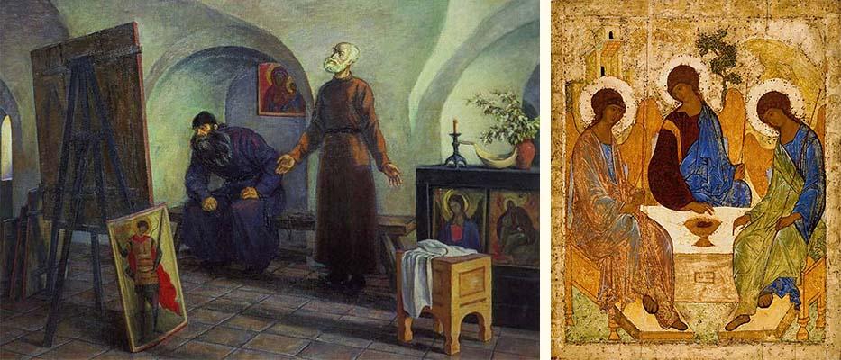 Даниил Черный и Андрей Рублев. Икона «Троица»