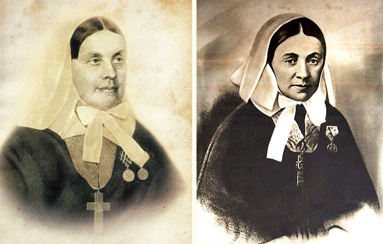 Екатерина Михайловна Бакунина и Елизавета Петровна Карцева