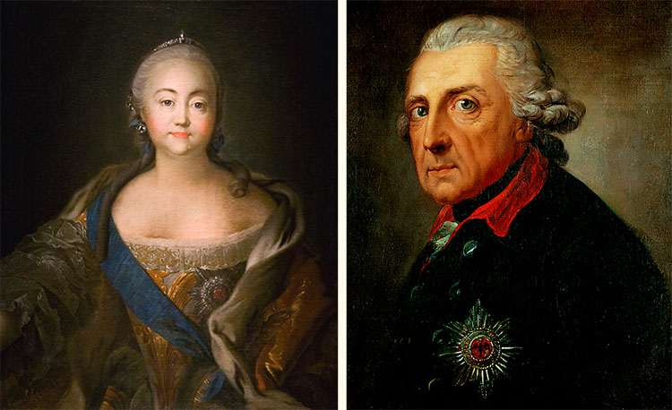Елизавета Петровна и Фридрих Великий