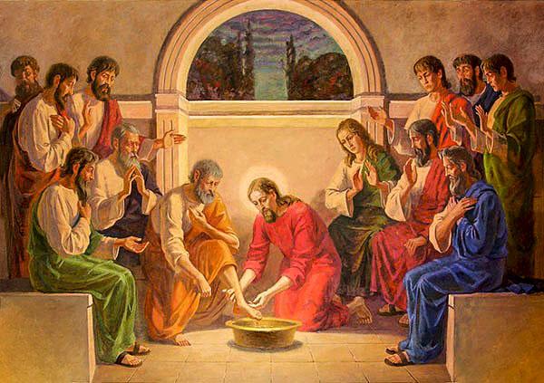Христос умывает ноги ученикам