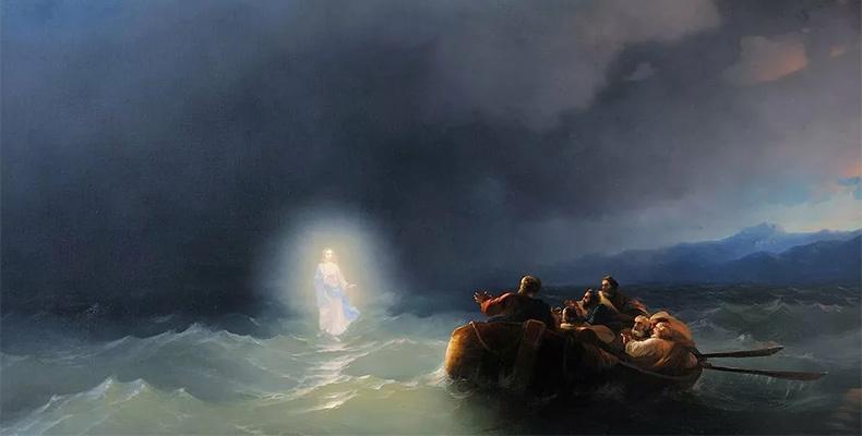 Иисус Христос идет по воде