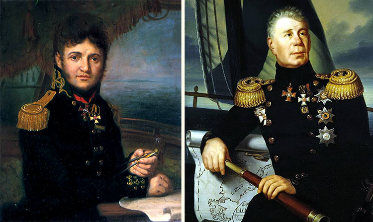 Лисянский и Крузенштерн