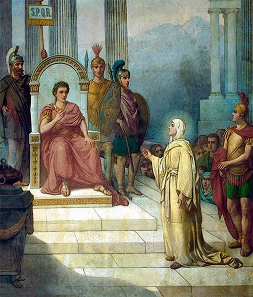Мария Магдалина и император Тиверий