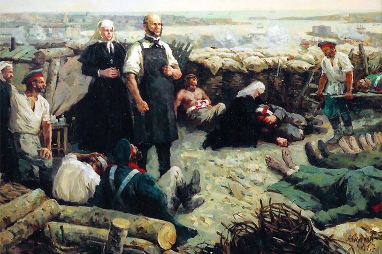 Николай Пирогов на перевязочном пункте Севастополя
