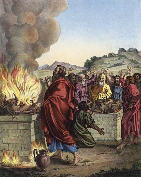 Пророк Илия и жрецы