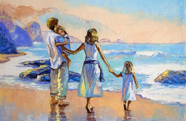 Семья на острове