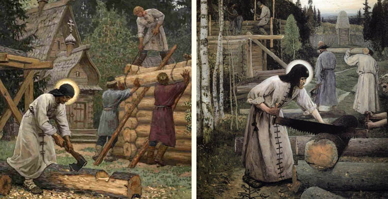 Строительство Троице-Сергиевой обители