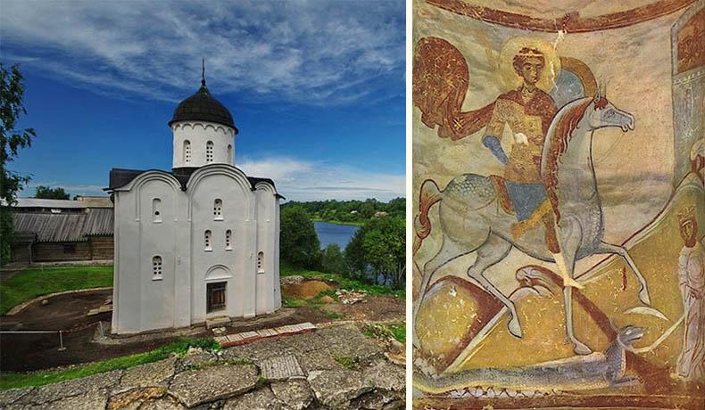 Церковь Святого Георгия и староладожская фреска