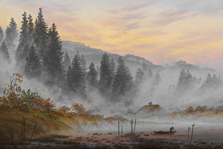 Туманное утро. Художник Каспар Фридрих