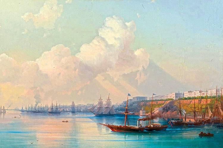 Вид на одесскую гавань