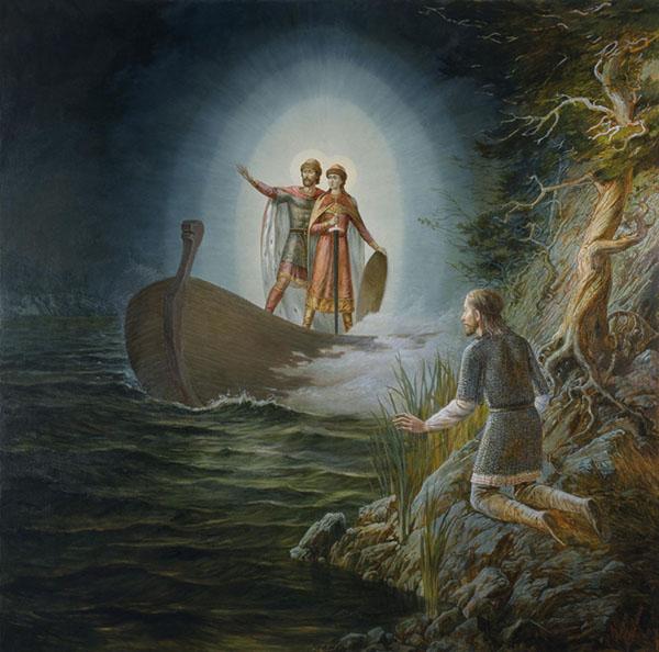 Явление Бориса и Глеба перед Невской битвой