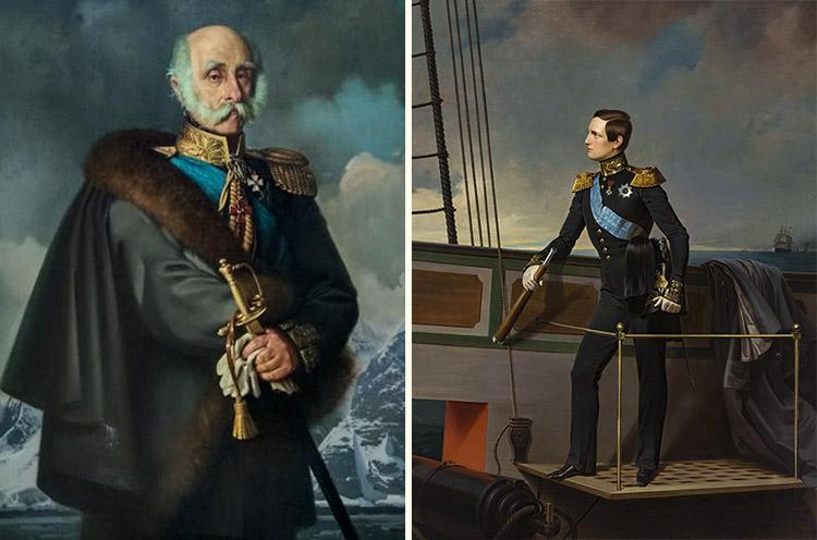 Федор Литке и великий князь Константин Николаевич