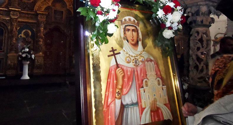 Икона святой мученицы Людмилы в храме