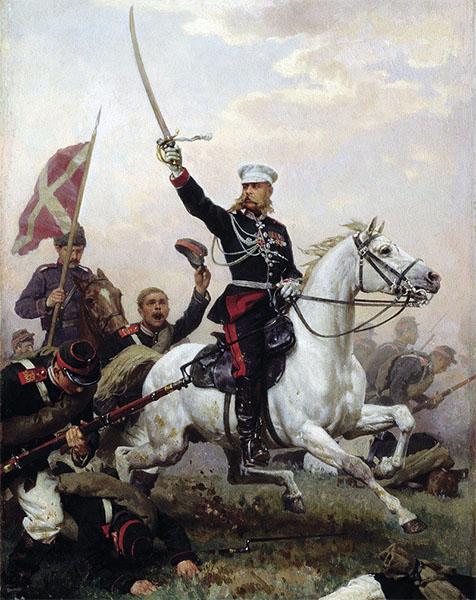 Михаил Скобелев на коне