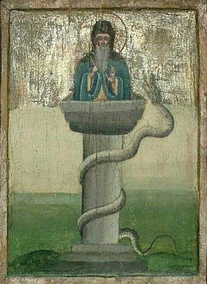 Преподобный Симеон Столпник и змей