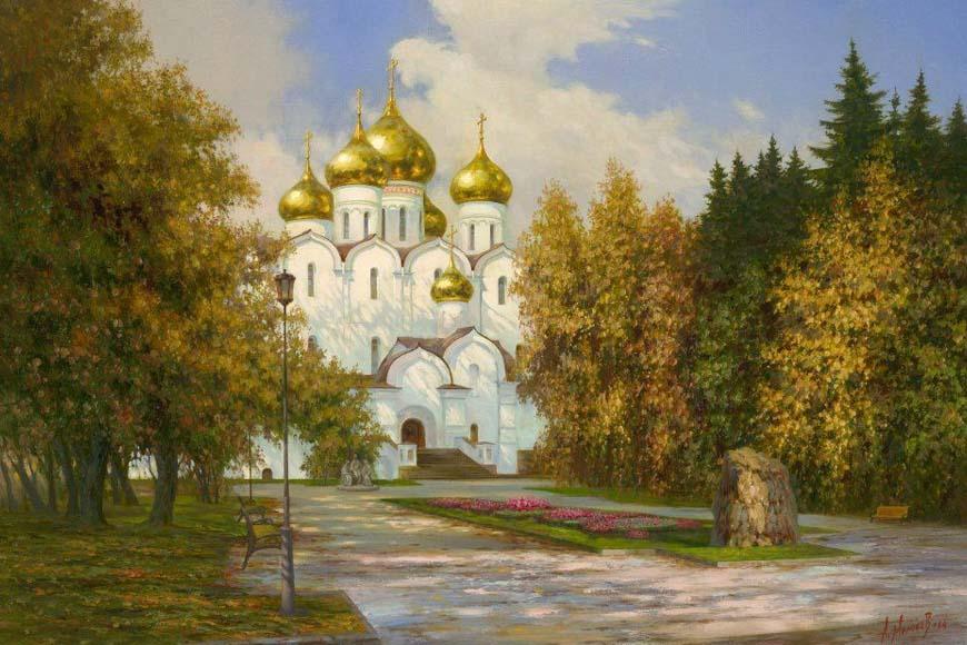Успенский Собор в Ярославле. Художник А. Милюков