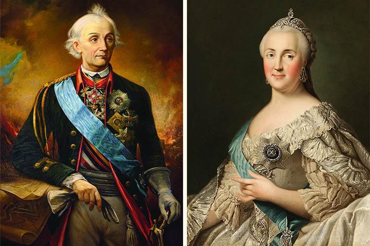 Александр Суворов и Екатерина Великая