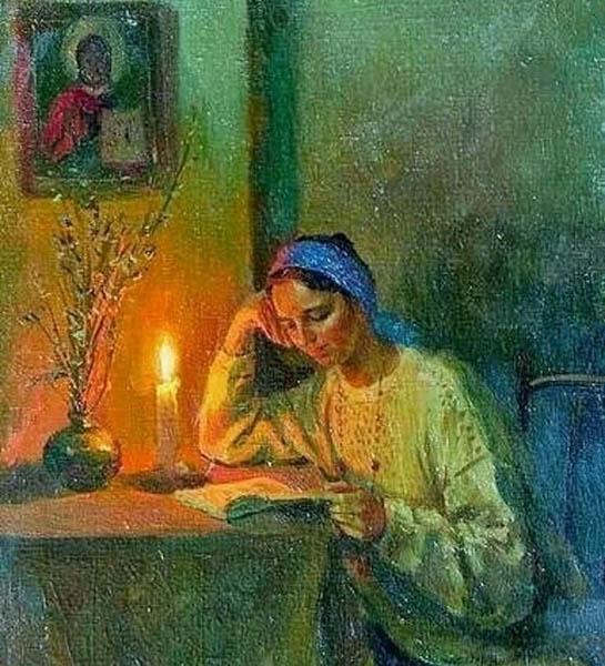 Читает духовную литературу