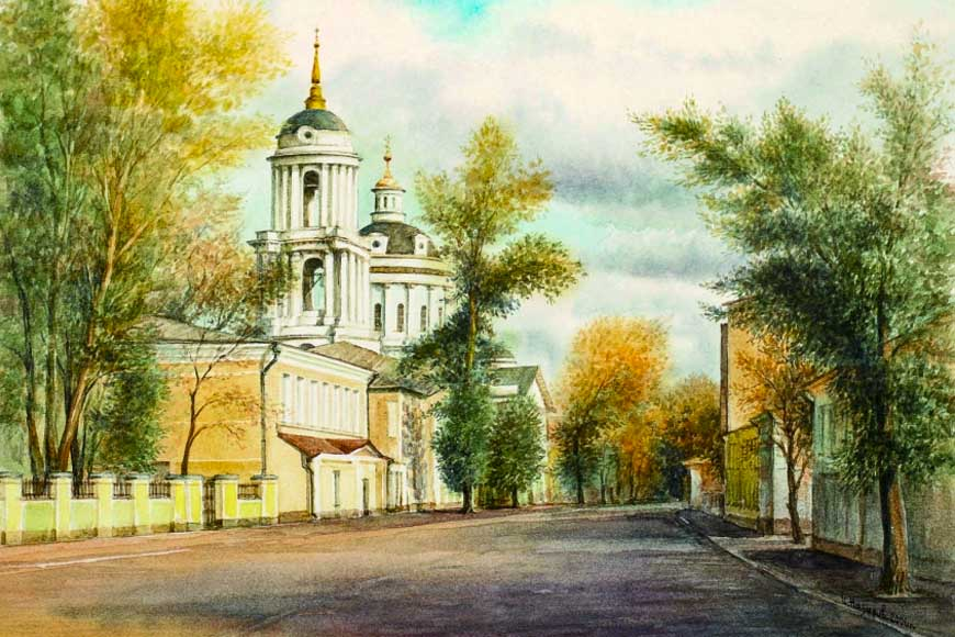 Храм Св. Мартина. Художник И. Назаров