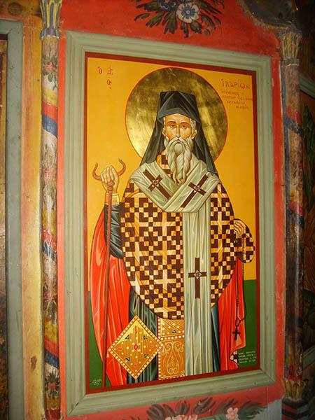 Икона святого Илариона Меглинского