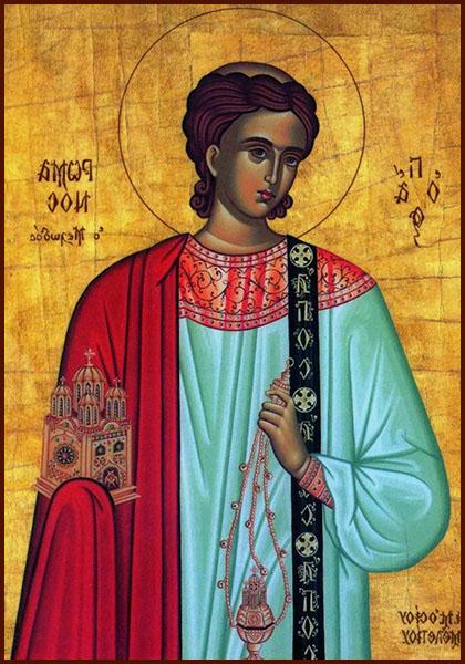 Икона святого преподобного Романа Сладкопевца