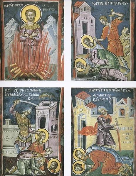 Мученики Карп, Папила, Агафор и Агафоника