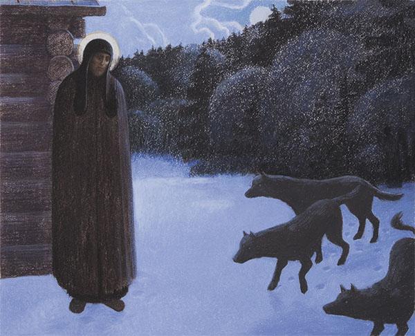 Преподобный сергий Радонежский и волки