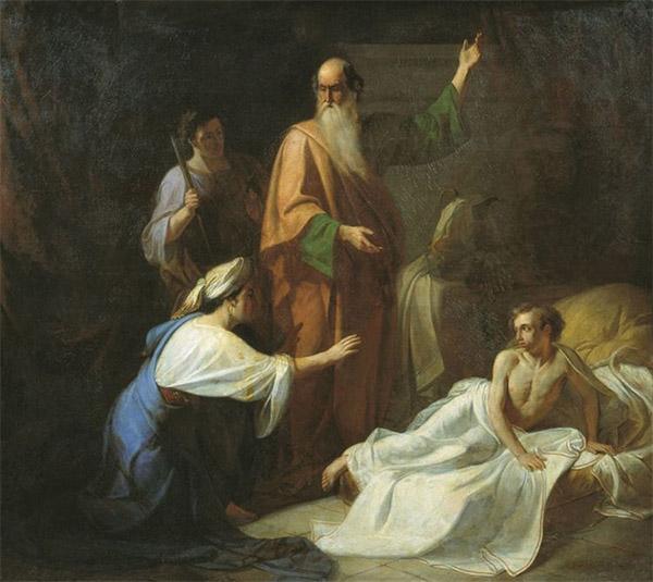 Пророк Илия воскрешает сына вдовы из Сарепты