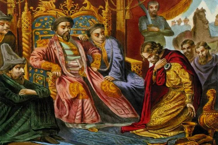 Русский князь у монгольского хана