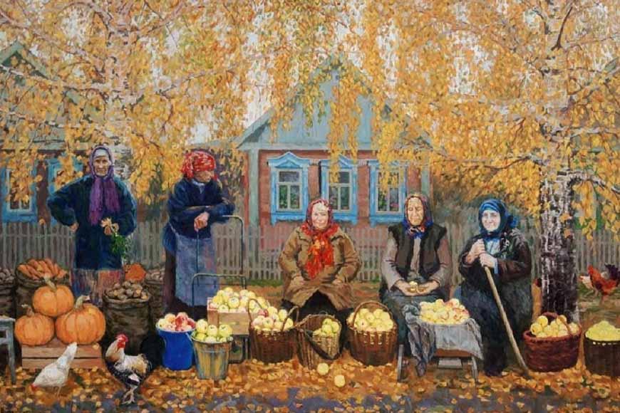 Щедрая осень. Художник В. Янаки