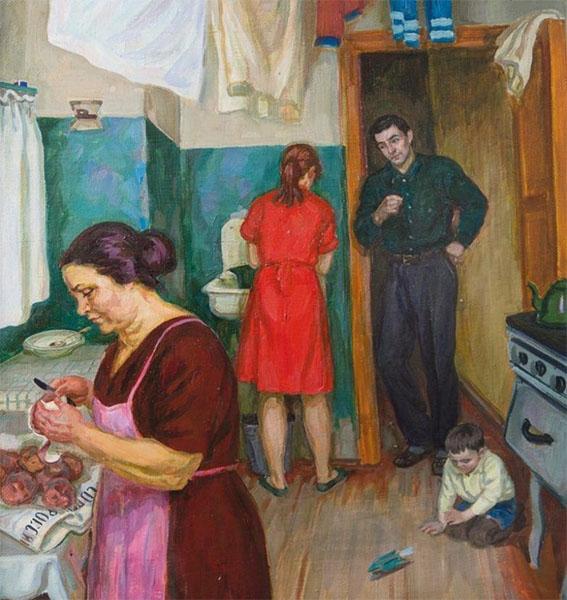 Семья в коммунальной квартире